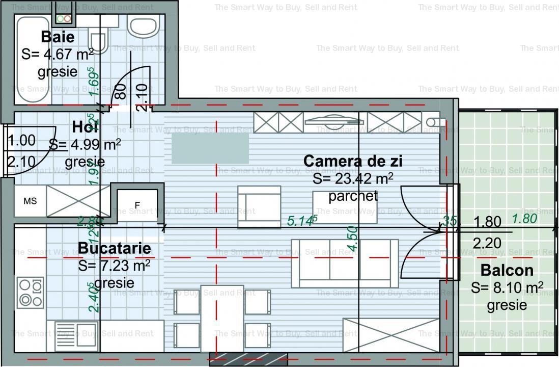Apartament 40 mp Centru