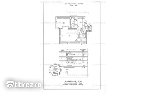 Casa de vanzare 7 camere cu mansarda de 56 mp in zona Primaverii
