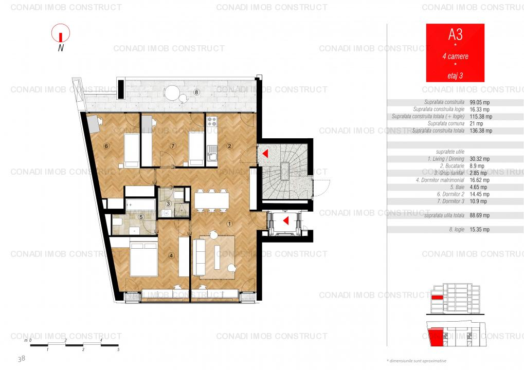 Piata Victoriei Buzesti: Apartament 4 camere in imobil nou, elegant