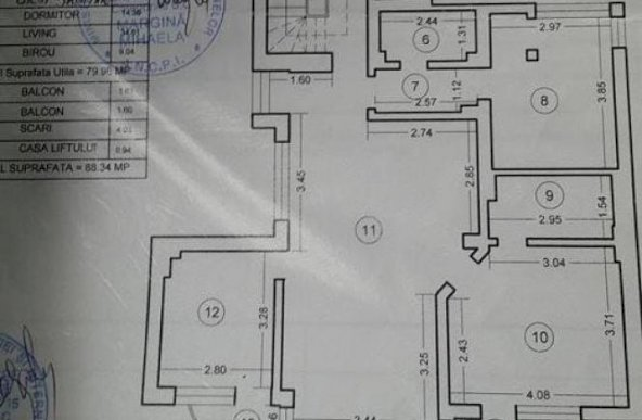 APARTAMENT DE VANZARE 3 CAMERE FLOREASCA-DOROBANTI ( CONSTRUUCTIE 2005 )
