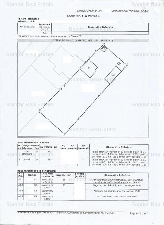 Chitila-  Mega Image- teren 620mp- rezidential