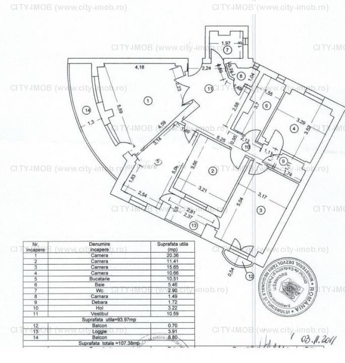 Vanzare apartament 4 camere Stirbei Voda Metrou Eroilor bloc 1994