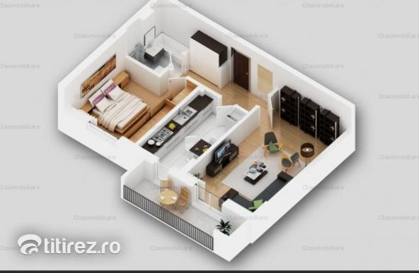 Ap 2 camere, decomandat, bloc nou (P+4), zona Titan, Theodor Pallady