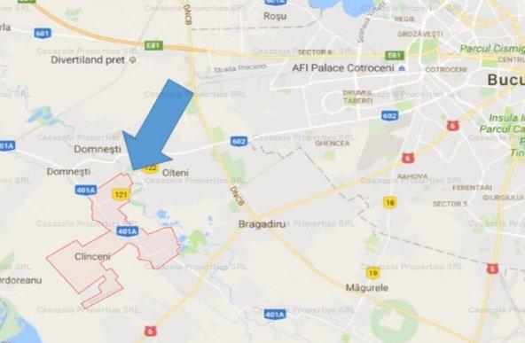Teren intravilan 6729 mp, Clinceni, Ilfov