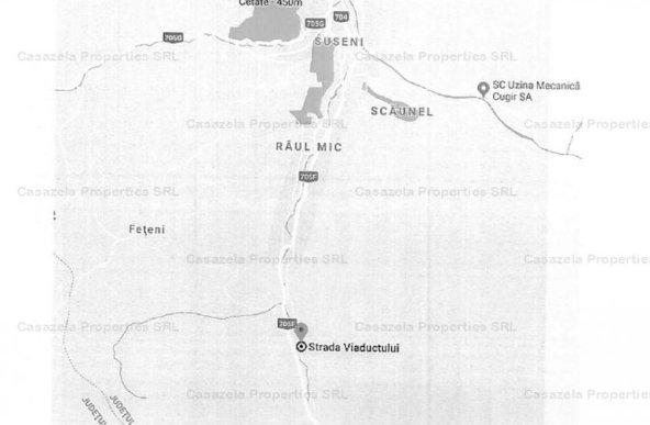 Teren 1950 mp situat in Cugir, Str Viaductului
