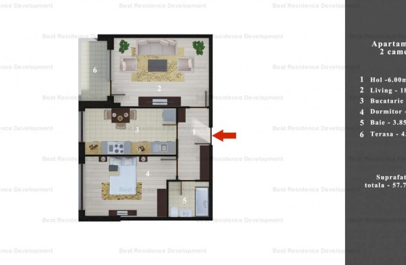 Merita vauzt! Apartament 2 camere si curte interioara zona Pipepa