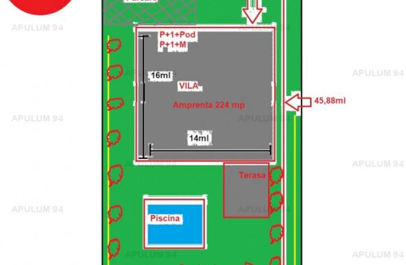 Teren Intravilan | 780 mp | Deschidere 17ml | Bd. Pipera la 600m de Iancu Nicolae