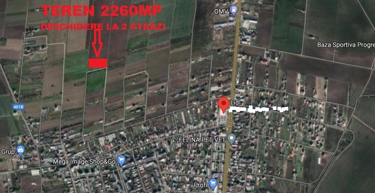 Vanzare Teren Constructii ,zona 1 Decembrie ,strada Artistilor ,nr 45 ,52.000 €