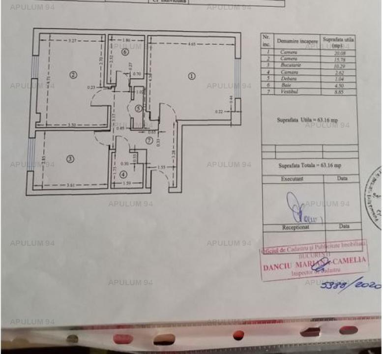 Vanzare Apartament 2 camere ,zona Colentina ,strada Pescarilor ,nr 2 ,69.500 €