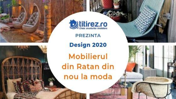 Design interior 2020  - Mobilierul din Ratan din nou la moda